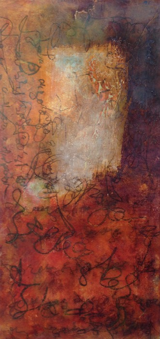 Asemic Window |10x20| Oil on Panel sold