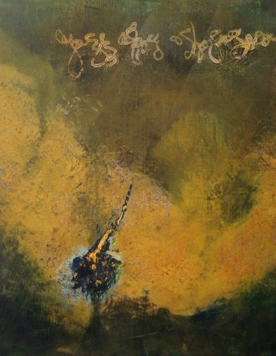 Yellow Wave Diptych I |18x18| Oil on Panel Sold