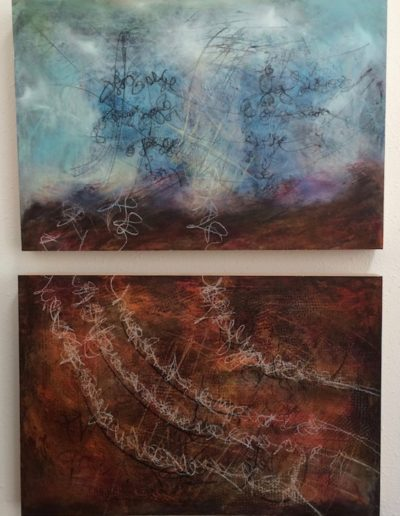 Really a Landscape? Diptych| 14.5x21.5 each| Oil on Panel